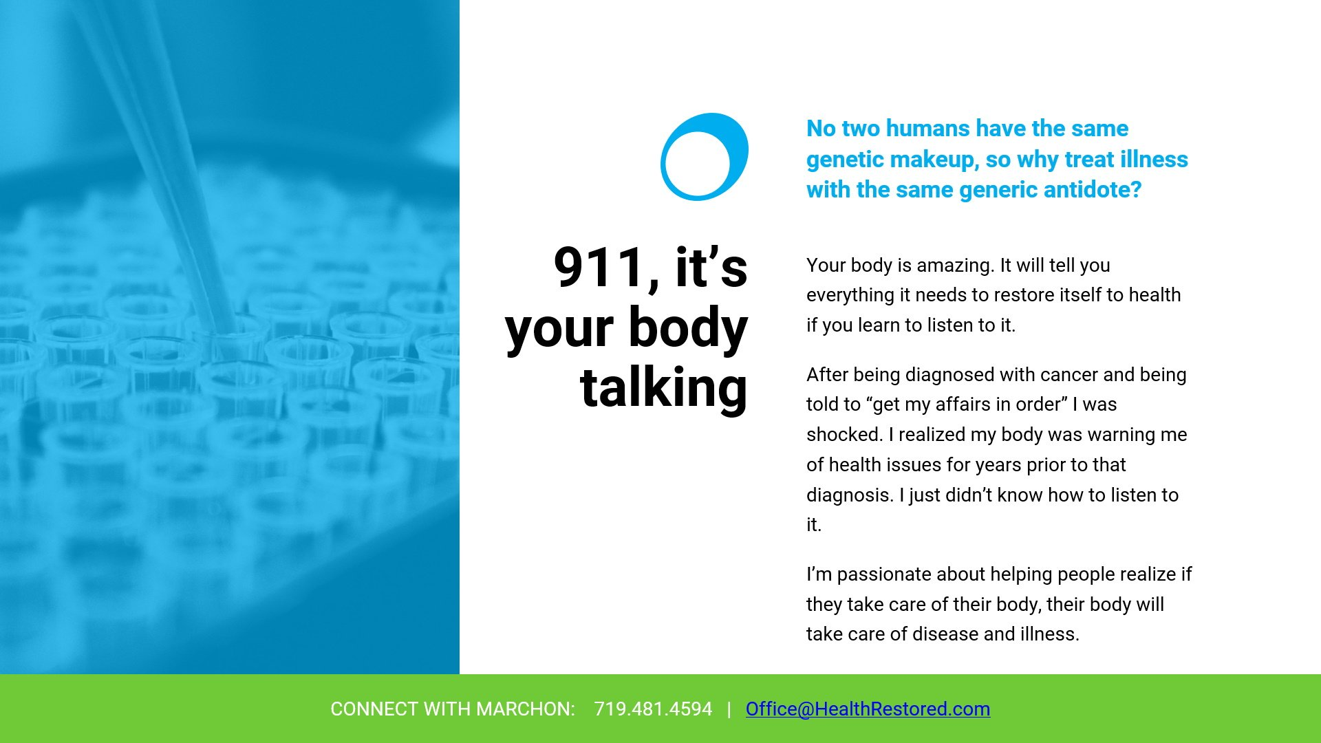 911, It's Your Body Talking