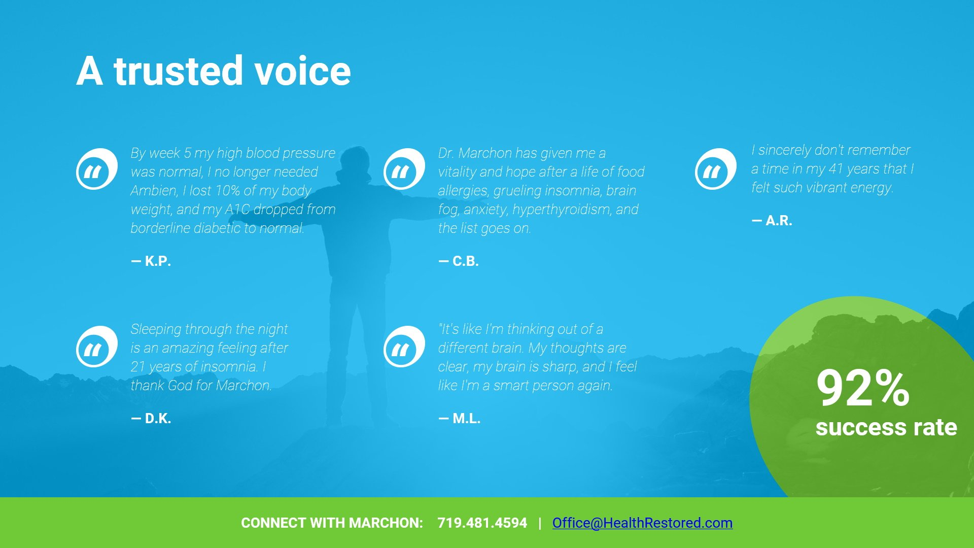 A Trusted Voice - Testimonials